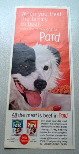 1961 Pard Dog Food Color Print Ad