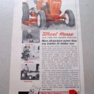 1961 Wheel Horse Lawn Garden Tractor Mower Color Print Ad