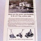 1961 Homelite Yard Trac Riding Mower Print Ad