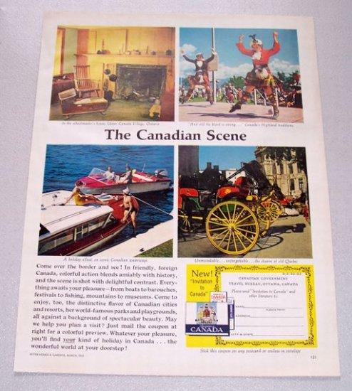 1961 Canadian Travel Bureau Color Print Ad - The Canadian Scene