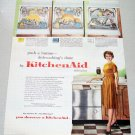 1961 KitchenAid Superba VariCycle Dishwasher Color Print Ad
