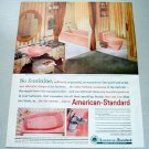 1961 American Standard Pink Bathroom Fixtures Color Print Ad