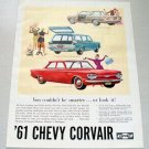 1961 Chevrolet Corvair Automobiles Color Print Car Ad