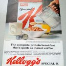 1961 Kellogg's Special K Cereal Color Print Ad