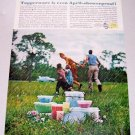 1961 Tupperware Containers Color Print Ad