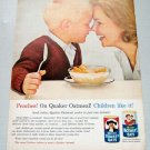 1963 Quaker Oats Cereal Color Print Ad