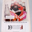 1968 Coca Cola Brand TAB Cola 6-Pack Color Print Beverage Ad