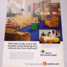 1968 Kroehler Living Room Furniture Color Print Ad