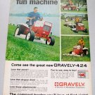 1968 Gravely 424 Lawn Tractor Color Print Ad