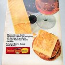 1969 Kraft Cracker Barrel Cheddar Cheese Color Print Ad