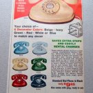 1969 Telco Beige Standard Dial Phone Color Print Ad