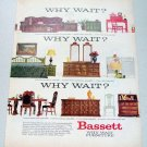 1969 Bassett Furniture Color Print Ad