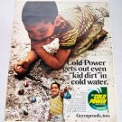 1969 Cold Power Laundry Detergent Color Print Ad