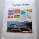 1969 Dodge Monaco Station Wagon Automobile Color Print Car Ad