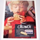 1969 Premium Saltine Crackers Color Print Ad