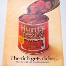 1969 Hunt's Tomato Sauce Color Print Ad