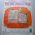 1969 Frigidaire Electri-clean Range Dishmobile Color Retro Print Ad
