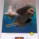 1998 Discover Card Woman Swimming Color Print Ad