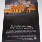 1998 UPS Postal Service Roman Building Color Print Ad