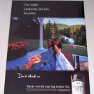 1998 Canadian Mist Whisky Back Porch Lake View Color Print Ad