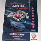 1998 Nascar Edition Monopoly Board Game Color Print Ad