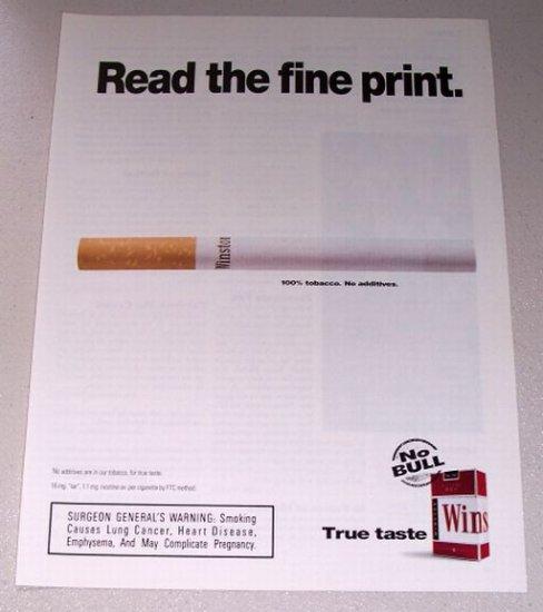 1998 Winston Cigarettes Color Print Ad