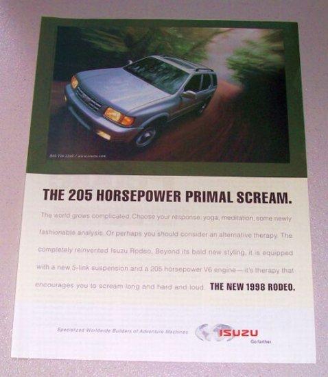 1998 Isuzu Rodeo SUV Color Print Ad