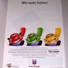 1998 Chevron Techron Gasoline Color Print Ad Chevron Cars