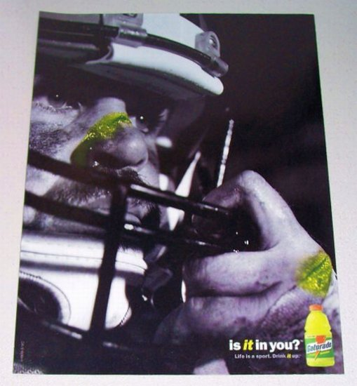 1998 Gatorade Thirst Quencher Football Theme Color Print Ad