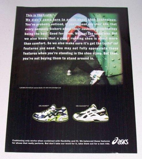 1998 Oasics gel-Marko Gel-Galileo II Shoes Color Print Ad