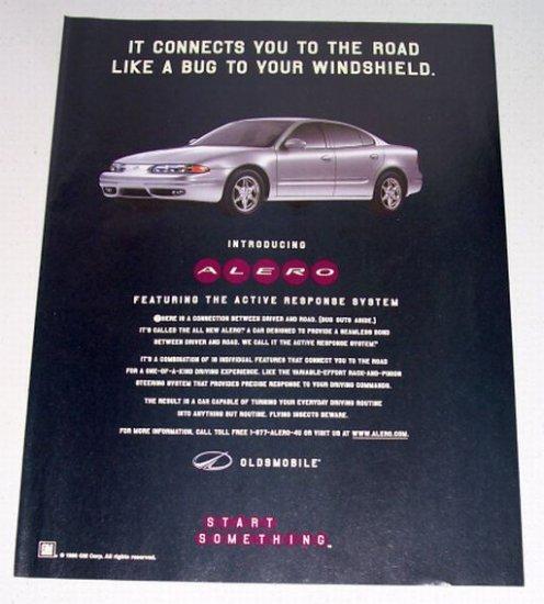 1998 Oldsmobile Alero Automobile Color Print Car Ad