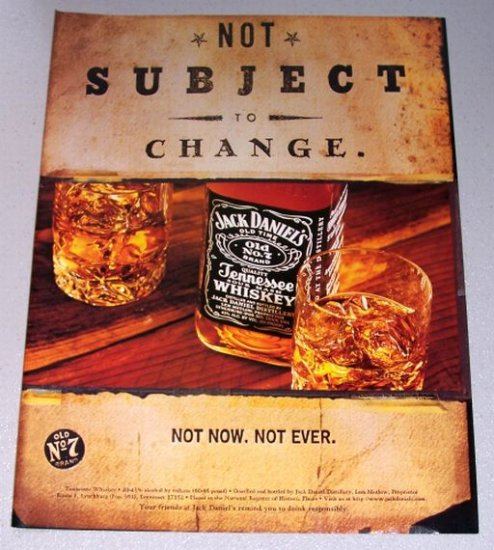 1998 Jack Daniels Tennessee Whiskey Color Print Ad