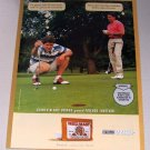 1998 RED MAN Pouch Chewing Tobacco Golfing Color Print Ad