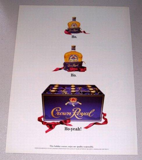 1998 Crown Royal Canadian Whisky Christmas Art Color Print Ad