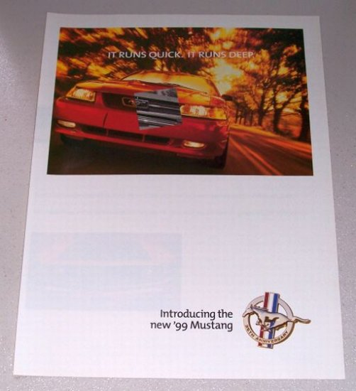 1999 Ford Mustang 4 Page Automobile Color Print Car Ad
