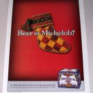 1998 Michelob Light Beer Christmas Theme Color Print Ad