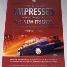 1998 Toyota Corolla CE Automobile Color Print Car Ad