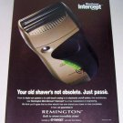 1998 Remington Microscreen Intercept M2830 Electric Shaver Color Print Ad