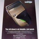 1998 Remington Microscreen Intercept M2830 Electric Shaver Color Print Ad