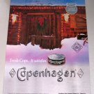 1998 Copenhagen Snuff Winter Christmas Color Print Tobacco Ad