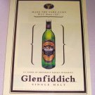 1998 Glenfiddich Scotch Whisky Color Print Liquor Ad