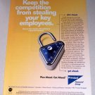 1998 Principal Financial Group Combination Lock Color Print Ad
