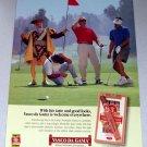 1998 Vasco Da Gama Premium Tobacco Cigar Golfing Color Print Ad