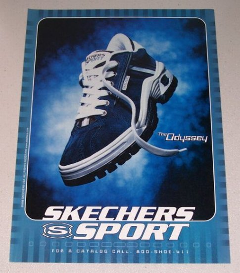 1998 SKECHERS Sport ODYSSEY Shoes Color Print Ad