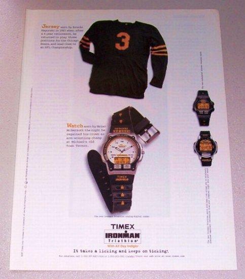1998 TIMEX Ironman Triathlon Sport Watch Color Print Ad