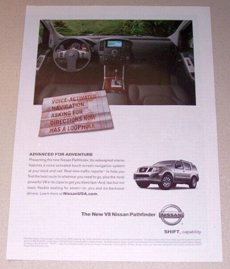 2007 Nissan Pathfinder V8 SUV Color Print Ad