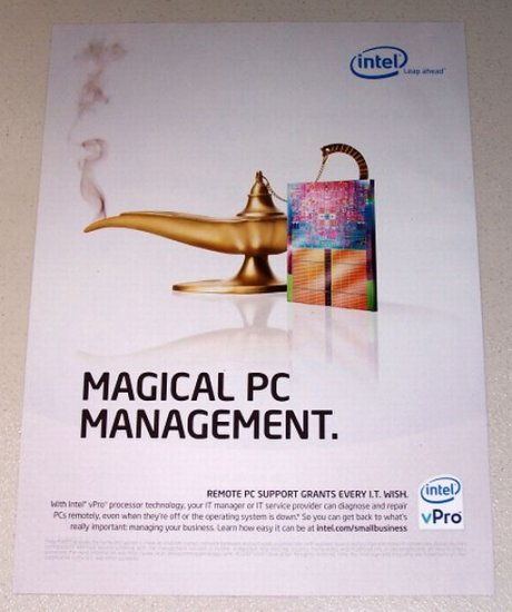 2007 Intel vPro Processor Magic Lamp Color Print Ad