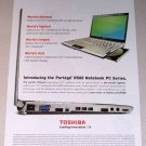 2007 Toshiba Portege R500 PC Notebook Laptop Color Print Computer Ad