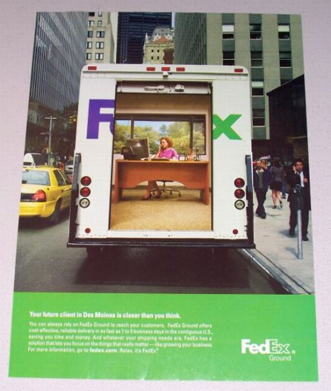 2007 FedEx Ground Shipping Color Print Ad