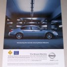 2007 Nissan Maxima Automobile Color Print Car Ad